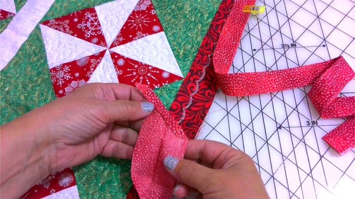 binding strip for a quilt