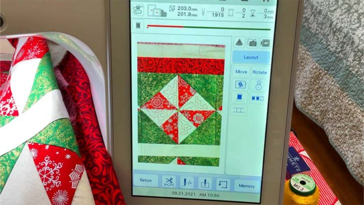 quilting with embroidery machine