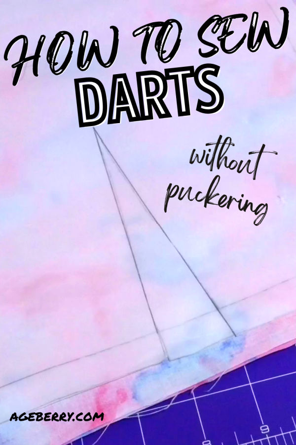 learn how to sew darts