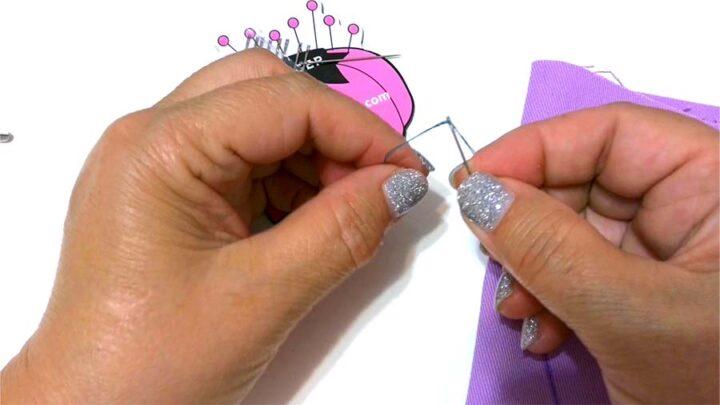 threading a self-threading needle