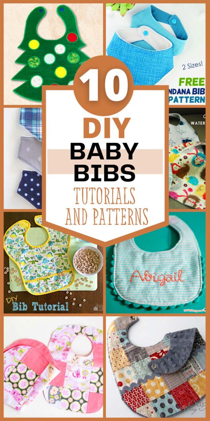 DIY baby bib pattern