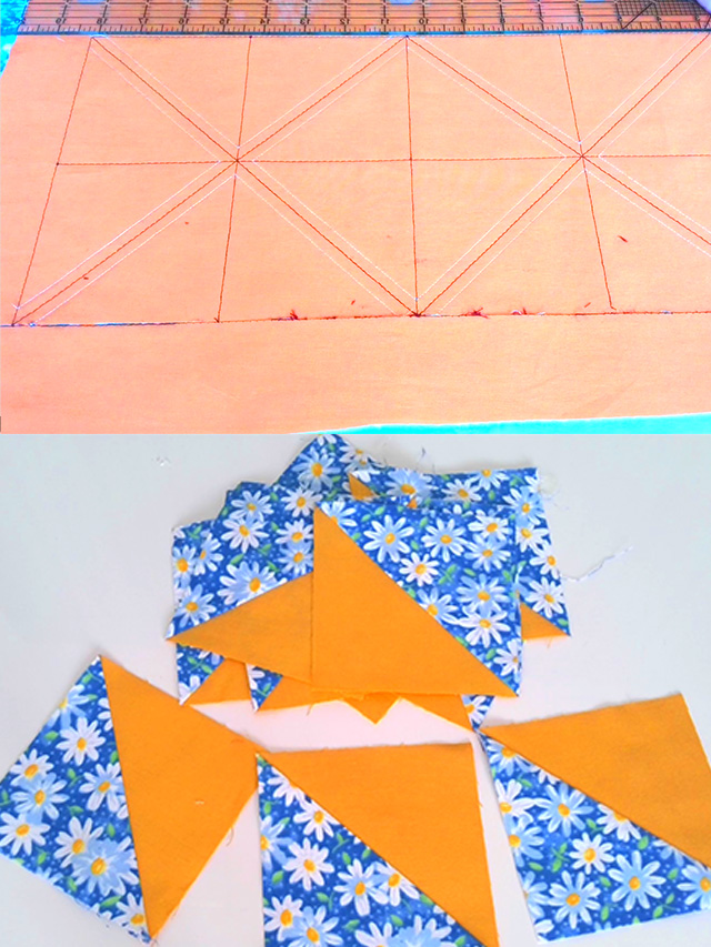 how to make half square triangles easily