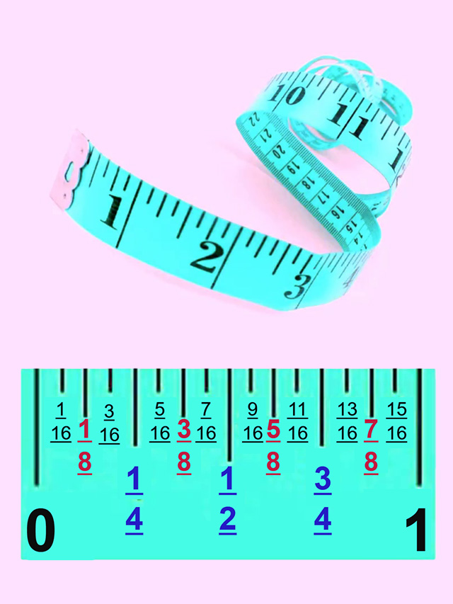 tape measure for sewing guide