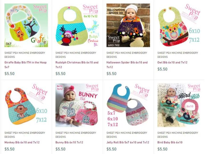 baby bibs by embroidery machine